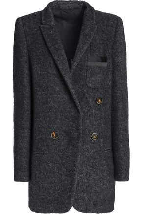 BRUNELLO CUCINELLI Bead-embellished brushed-felt jacket