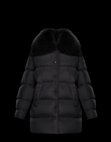 MESANGE Black Long Down Jackets Woman