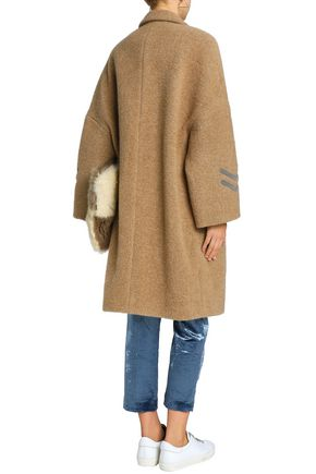 BRUNELLO CUCINELLI Bead-embellished alpaca-blend coat