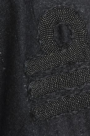 BRUNELLO CUCINELLI Double-breasted bead-embellished mohair-blend twill blazer