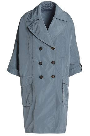 BRUNELLO CUCINELLI Double-breasted shell trench coat
