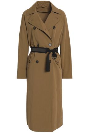 BRUNELLO CUCINELLI Belted cotton-gabardine trench coat