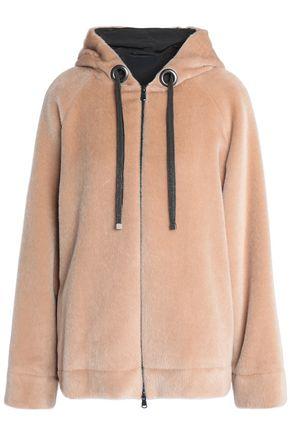 BRUNELLO CUCINELLI Bead-embellished alpaca hoodie