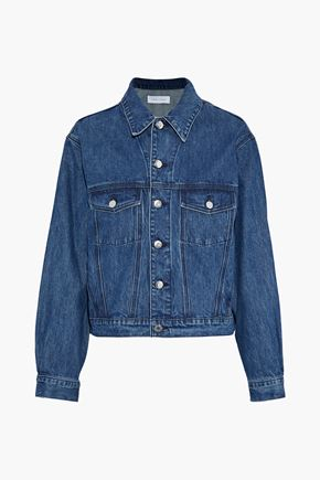 IRO Donna ruffle-trimmed denim jacket