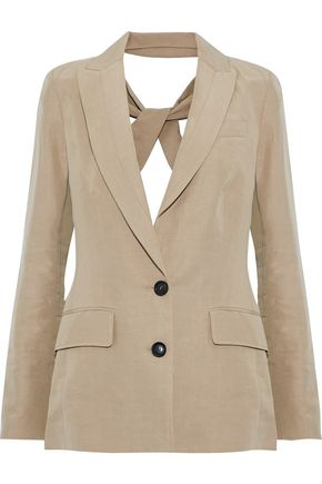 MARISSA WEBB Ana open-back Tencel and linen-blend blazer