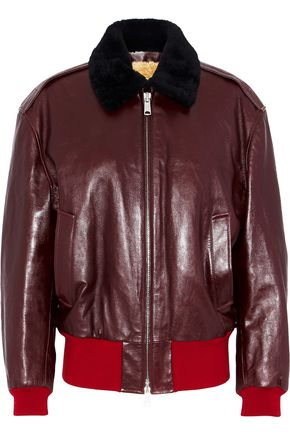 CALVIN KLEIN 205W39NYC Shearling-lined leather bomber jacket