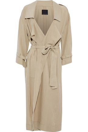 MARISSA WEBB Tencel and linen-blend trench coat