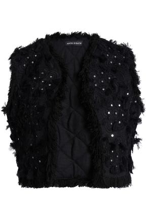 ANTIK BATIK Sequin-embellished cotton-jacquard vest