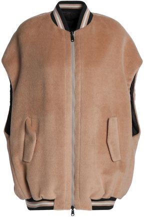 BRUNELLO CUCINELLI Reversible alpaca-felt bomber jacket