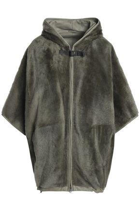 BRUNELLO CUCINELLI Bead-embellished shearling hooded jacket