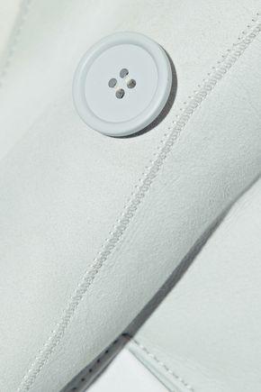 IRO Zehner leather-trimmed shearling jacket