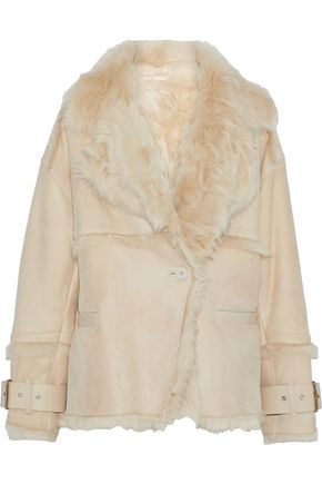 IRO Zehner leather-trimmed shearling jacket