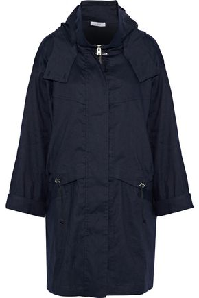 IRO Gerald linen-blend twill hooded jacket