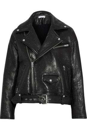IRO Vandry studded leather biker jacket