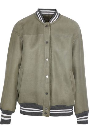 BRUNELLO CUCINELLI Metallic-trimmed shearling jacket
