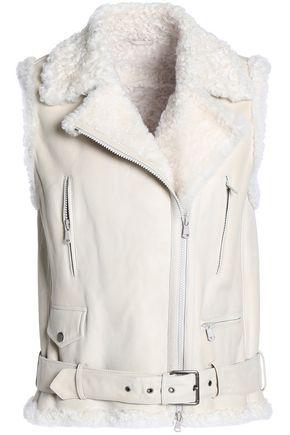 BRUNELLO CUCINELLI Belted shearling vest