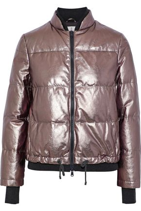 BRUNELLO CUCINELLI Quilted metallic leather jacket
