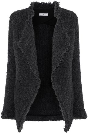 IRO Campbell frayed bouclé-knit jacket