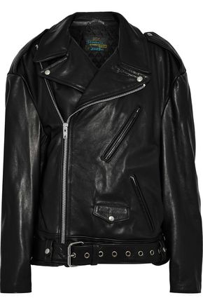 VETEMENTS Oversized leather biker jacket
