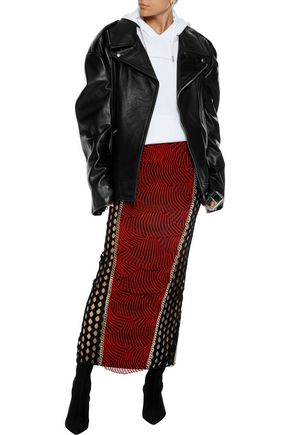 VETEMENTS Oversized leather biker jacket