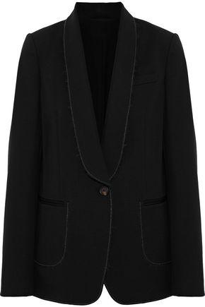 BRUNELLO CUCINELLI Frayed bead-embellished mohair-blend blazer