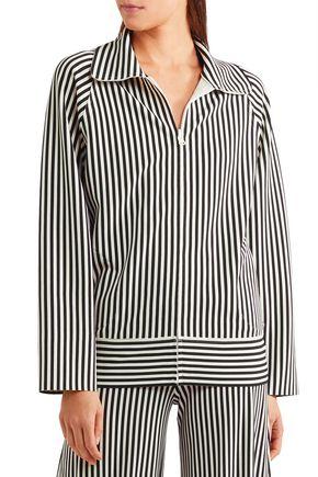 NORMA KAMALI Striped neoprene jacket
