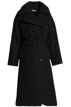 JIL SANDER Double-breasted wool-felt coat
