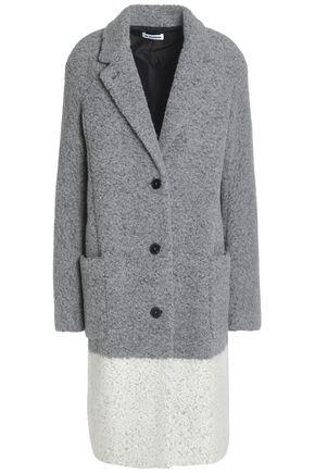 JIL SANDER Two-tone wool-blend bouclé coat
