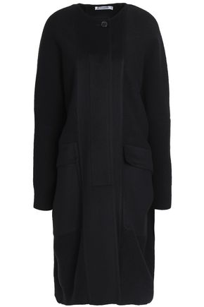 JIL SANDER Paneled wool and cashmere-blend coat