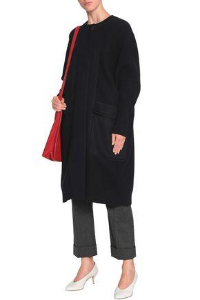 JIL SANDER Paneled wool and cashmere-blend coat
