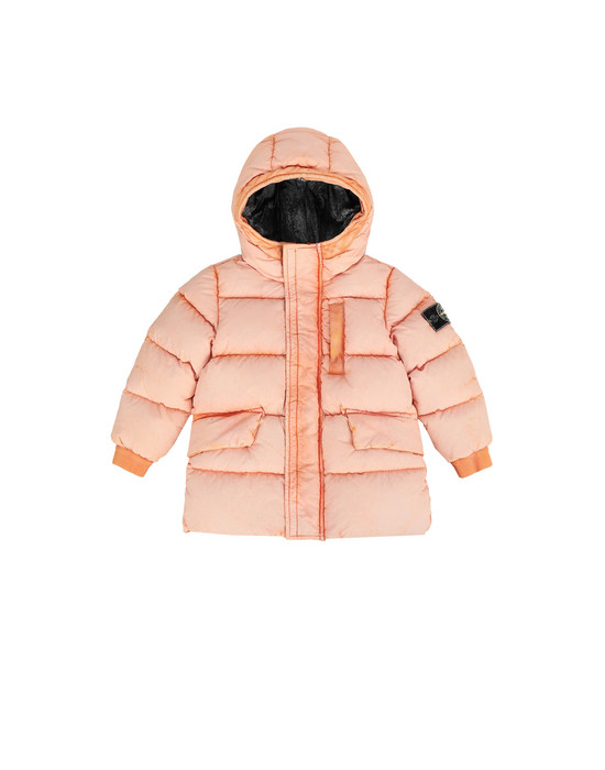 STONE ISLAND BABY Mittellange Jacke 40938 TELA NYLON DOWN WITH DUST COLOUR FROST FINISH