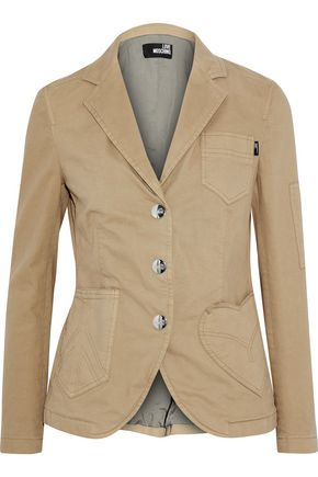 LOVE MOSCHINO Cotton-blend twill jacket