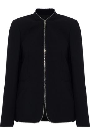 ELIE TAHARI Kristina zip-detailed crepe jacket