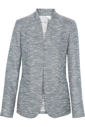 ELIE TAHARI Tori metallic tweed blazer