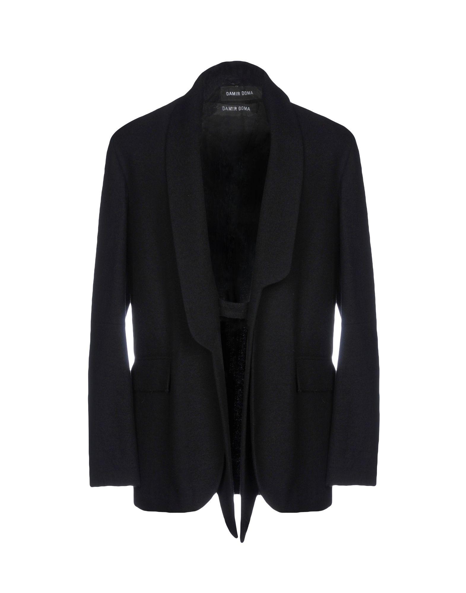 《送料無料》DAMIR DOMA メンズ テーラードジャケット ブラック 52 バージンウール 100%