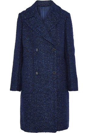 ELIE TAHARI Double-breasted bouclé-tweed coat