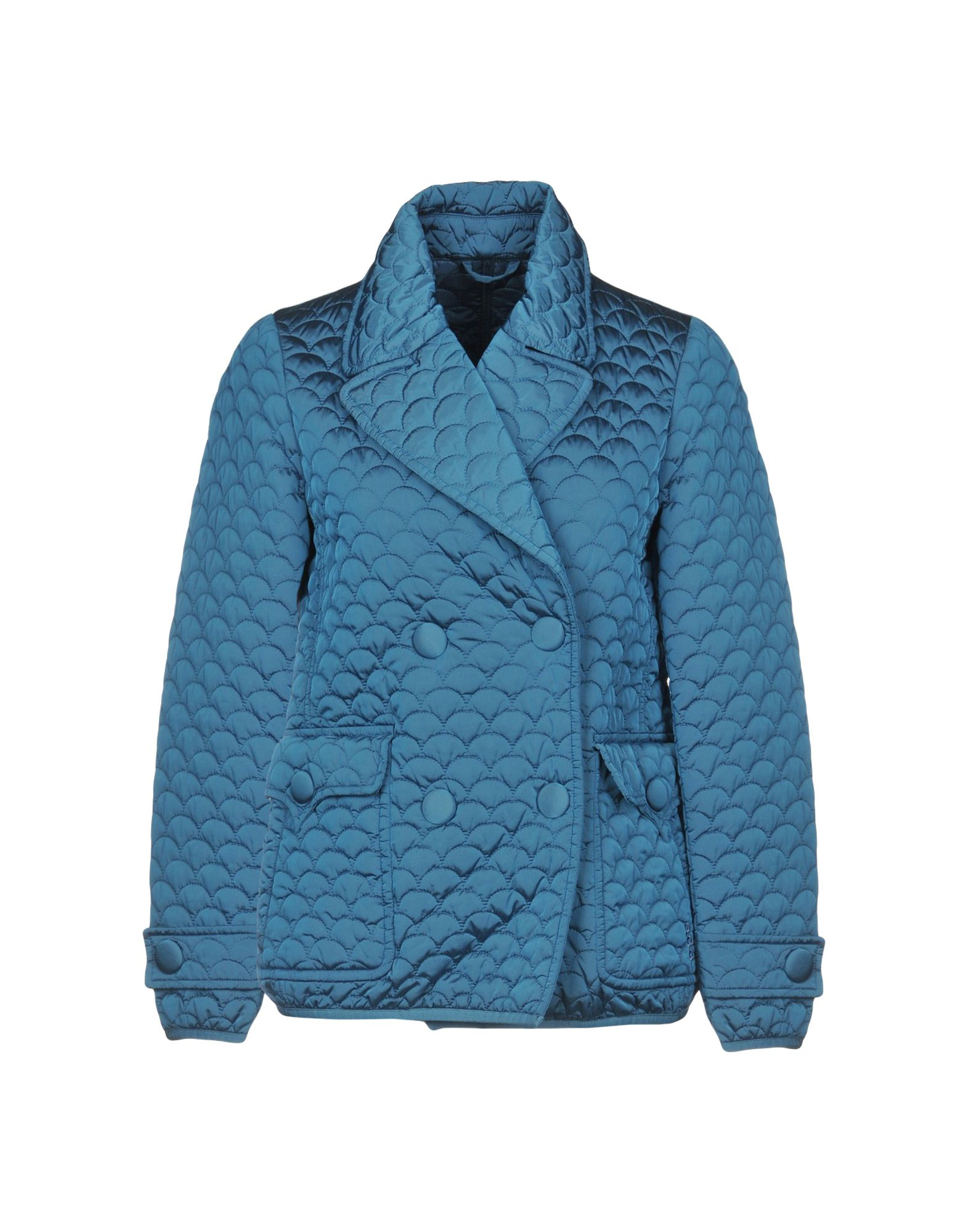 ADD Double Breasted Pea Coat, Pastel Blue