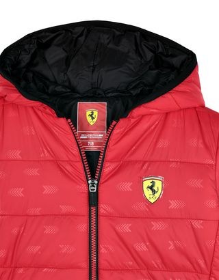 Scuderia Ferrari Online Store - 儿童尼龙衬垫外套 - 羽绒夹克