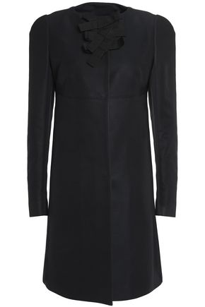 ROCHAS Bead-embellished cotton-blend coat