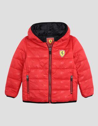 Scuderia Ferrari Online Store - Chaqueta acolchada de nailon para chico - Chaquetas de plumas
