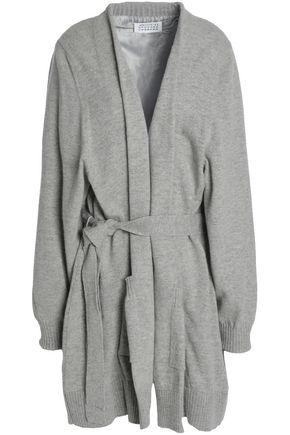 MAISON MARGIELA Twill-trimmed donegal wool cardigan
