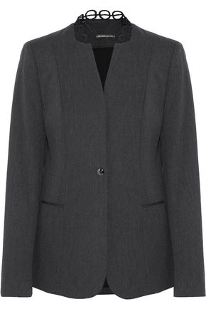 ELIE TAHARI Tori cotton-blend twill blazer