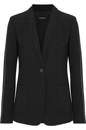 ELIE TAHARI Wendy chain-trimmed crepe blazer