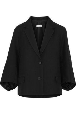 JIL SANDER Wool and silk-blend twill blazer