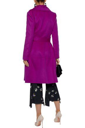 OSCAR DE LA RENTA Brushed wool, angora and cashgora-blend trench coat