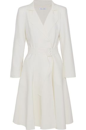OSCAR DE LA RENTA Wool and cashmere-blend trench coat