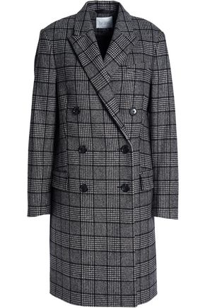 HOUSE OF DAGMAR Double-breasted wool-blend felt coat