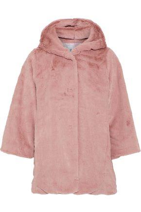 IRIS & INK フェイクファー フード付きジャケット