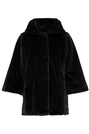 IRIS & INK Pamela faux fur hooded jacket