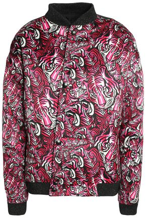 JUST CAVALLI Printed shell bomber jacket